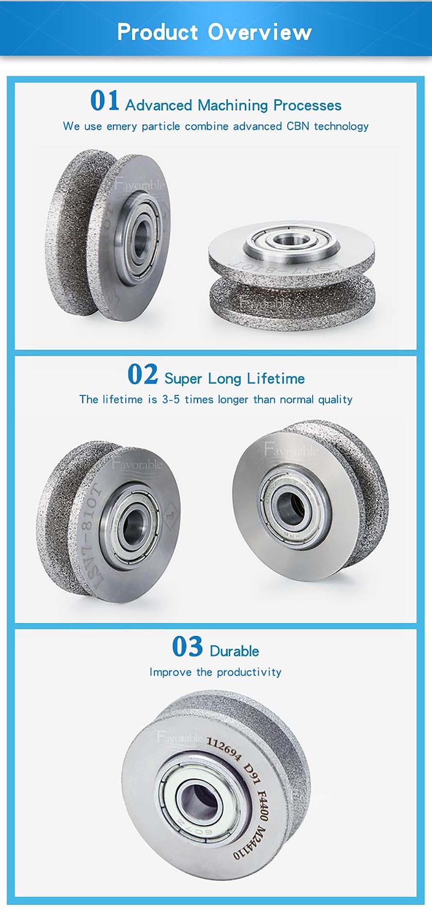 703410 Grinding wheel D.91 Grit 150 VT57 Q=10 For Lectra VT5000 VT7000-6